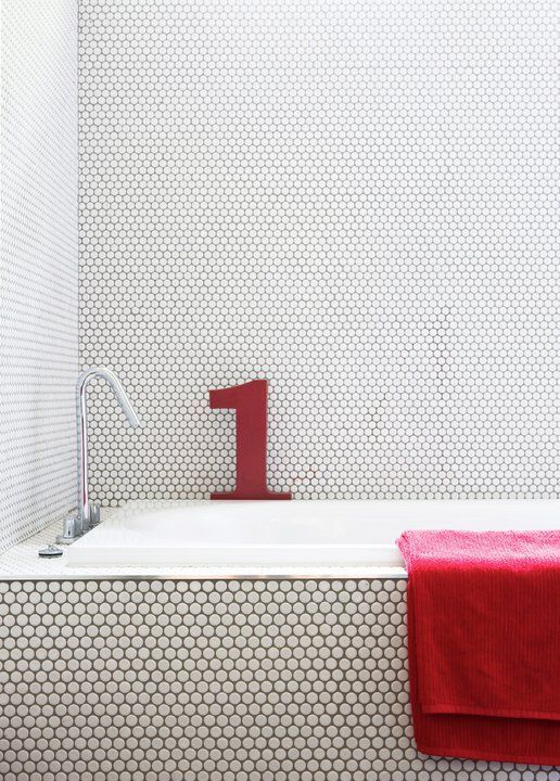 Red And Black Tiles For Bathroom