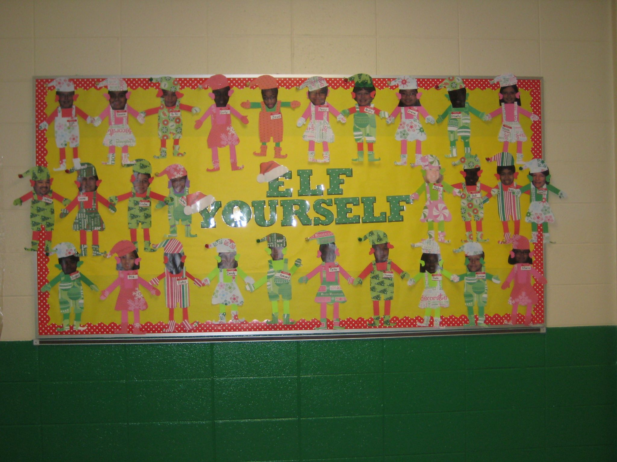 Christmas Elf Yourself Bulletin Board Bulletin Boards
