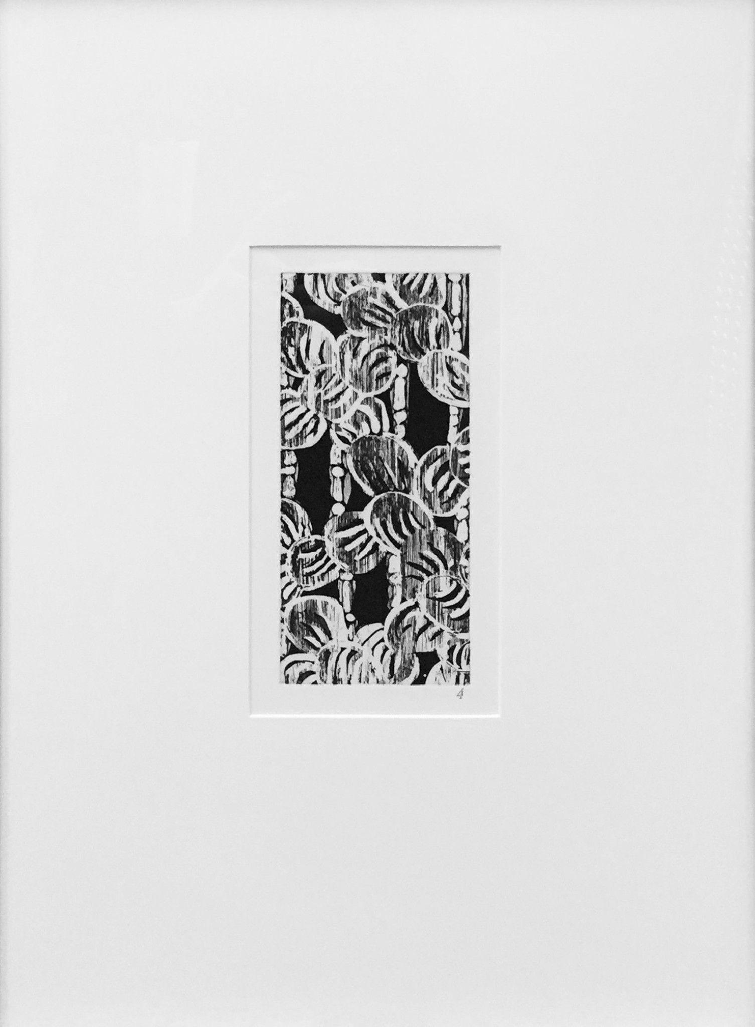 "Robert Kushner (American, b. 1949), ""Bear Claws and Bamboo"", 1980, etching, ed. 35"