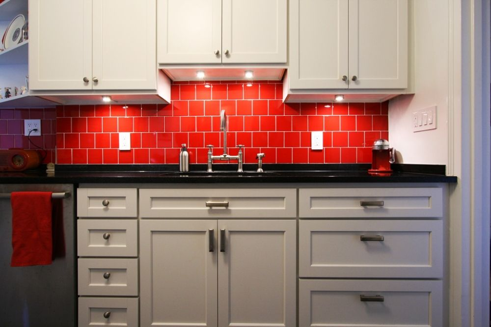 Red Kitchen Tile Design Ideas ~ West th street in awesome kitchens