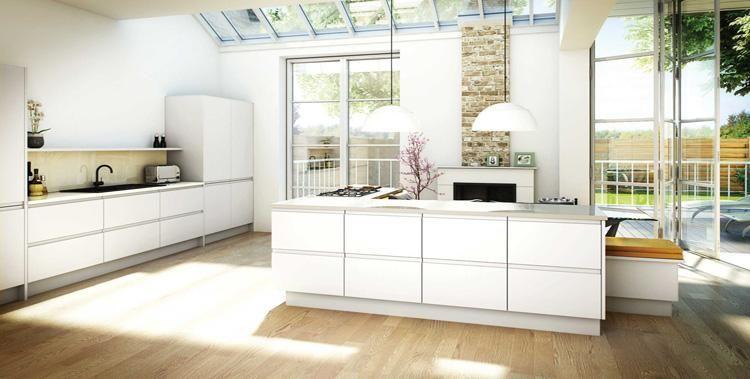 Marvelous Painted Handleless Kitchen Doors | Kitchen And Bedroom Store