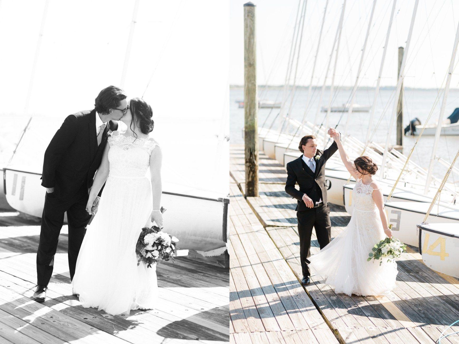 Corinthian Yacht Club Spring Summer Wedding Reception Ceremony Hoop ...