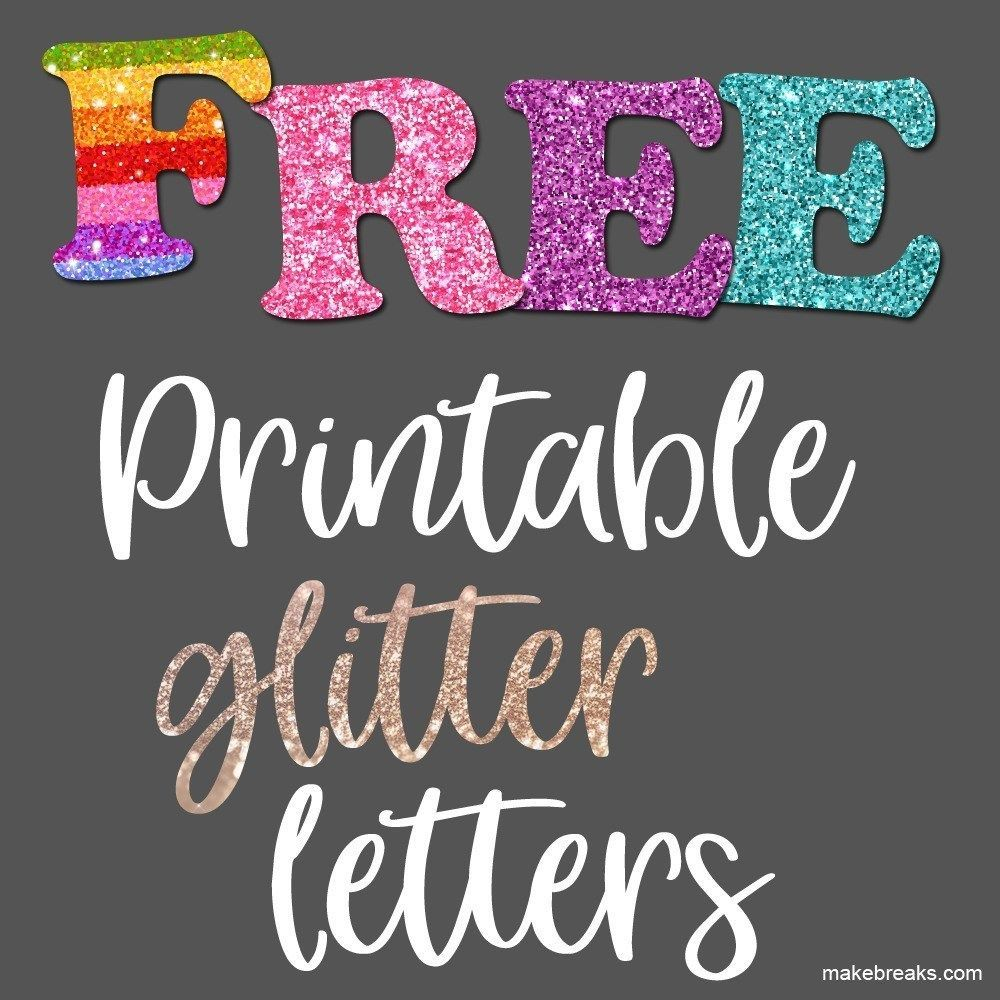 Free Printable Glitter Letters and Alphabet