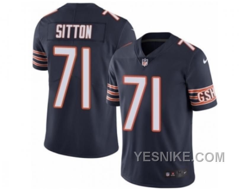 http://www.yesnike.com/big-discount-66-off-mens-nike-chicago-bears-71-josh-sitton-limited-navy-blue-rush-nfl-jersey.html BIG DISCOUNT ! 66% OFF ! MEN'S NIKE CHICAGO BEARS #71 JOSH SITTON LIMITED NAVY BLUE RUSH NFL JERSEY Only 23.45€ , Free Shipping!