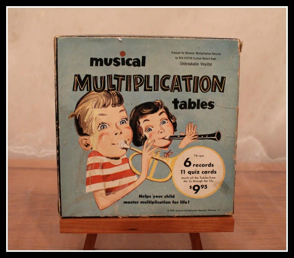 Rare Vintage Musical Multiplication Tables Kit Sing With Billy