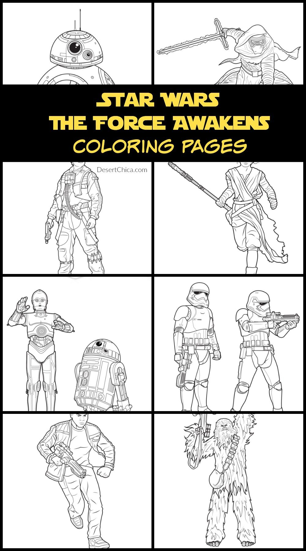 Star Wars The Force Awakens Coloring Pages And Activities