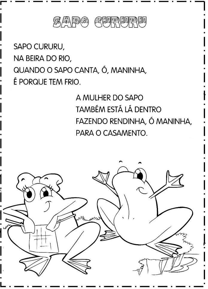 Famosos Aprender Brincando: Folclore: Cantigas de Roda | ATIVIDADES  EY36