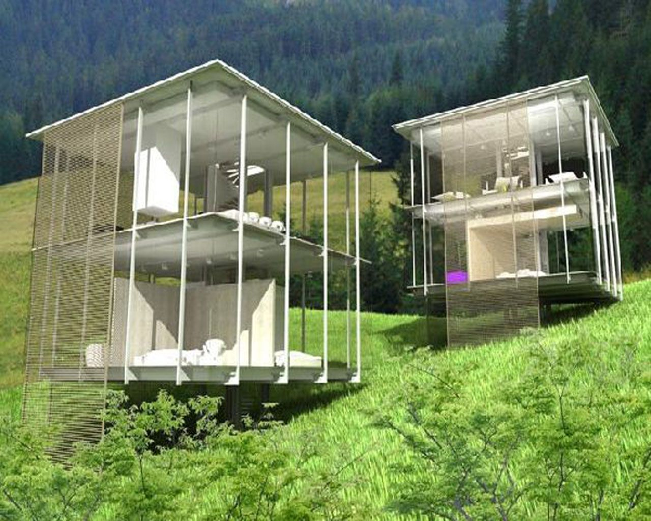 More glass houses at the future was perfect http for Home designs architecture