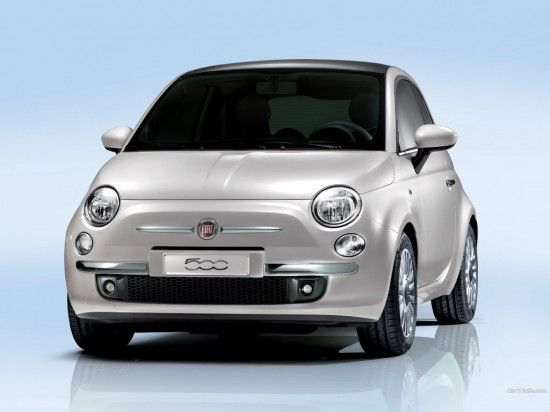Silver Fiat 500 From The Front Fiat 500 Fiat Cars Best Small Cars