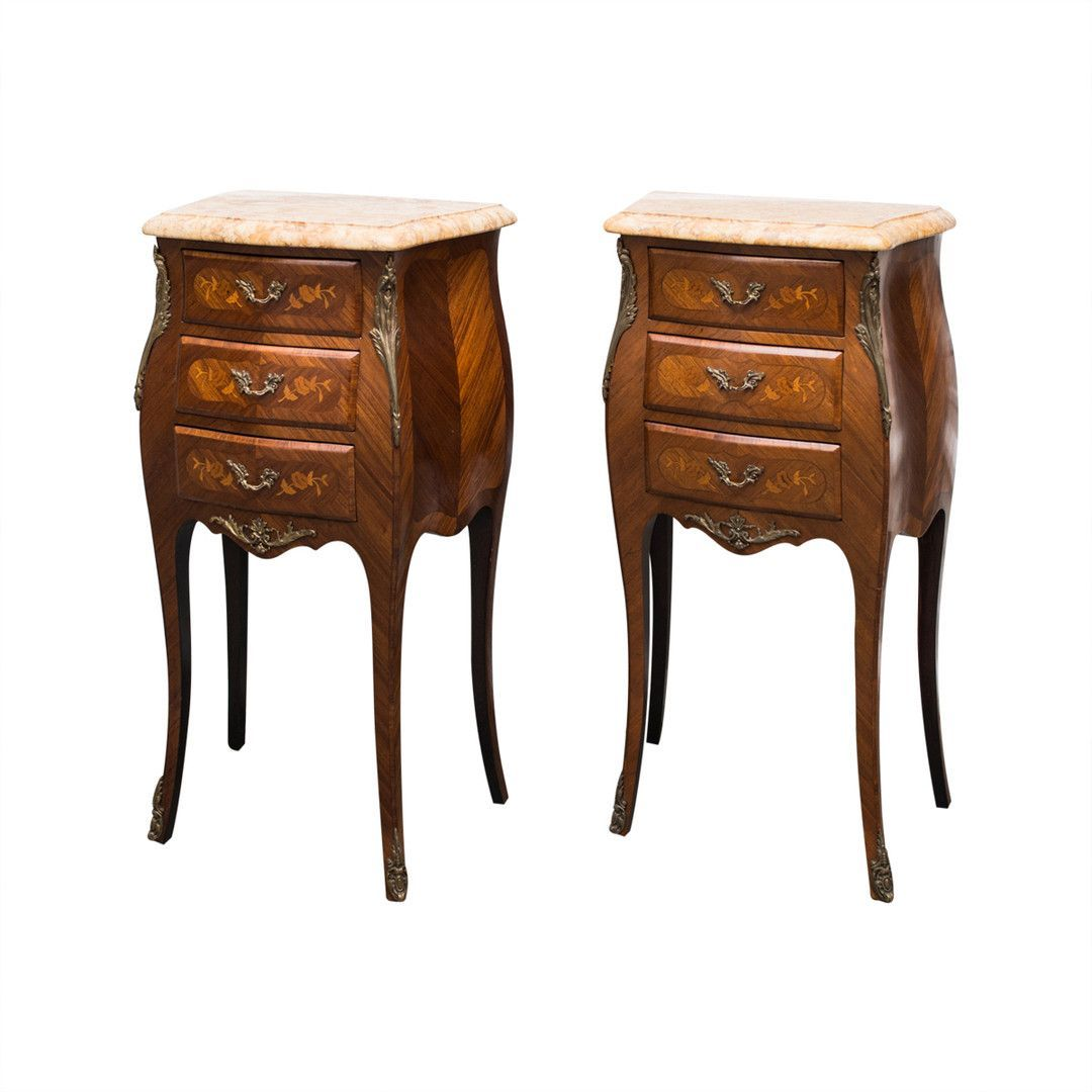 Muebles Auxiliares Clasicos Louis Xv Style Bombe Commode Night Tables Muebles