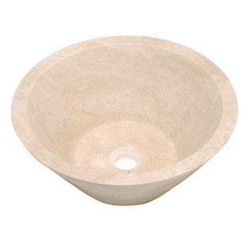 Vasque à poser travertin Diam.40.6 cm beige / naturel Manon ...