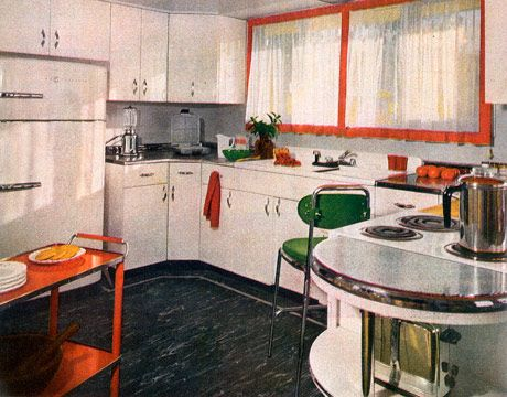 Great 50s Style Kitchen And Retro Decor 1950s Kitchens