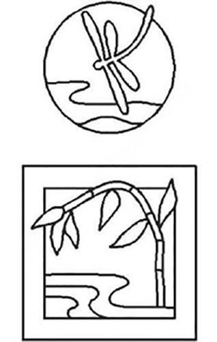 Stencils - PCW115 - Dragonfly & Bamboo