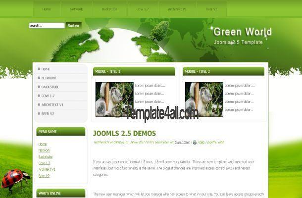 Green Joomla Theme - Joomla Templates #joomla #green ...