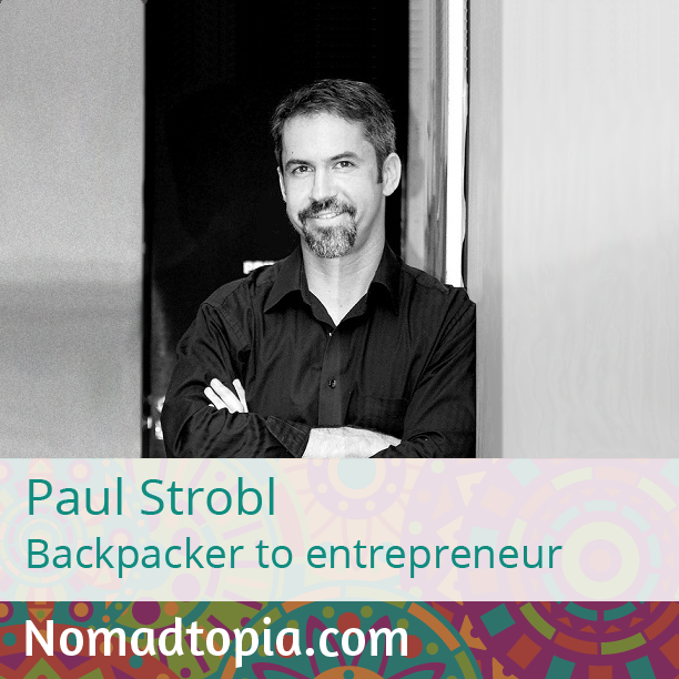Paul Strobl has worn many hats over the years: backpacker, reality-show participant, English teacher, sales manager, business coach, expat, and more. Tune in at www.nomadtopia.com/paulstrobl/ to find out how these experiences have shaped his life and led him where he is today, enjoying life with his wife and dogs, no matter where they are in the world.