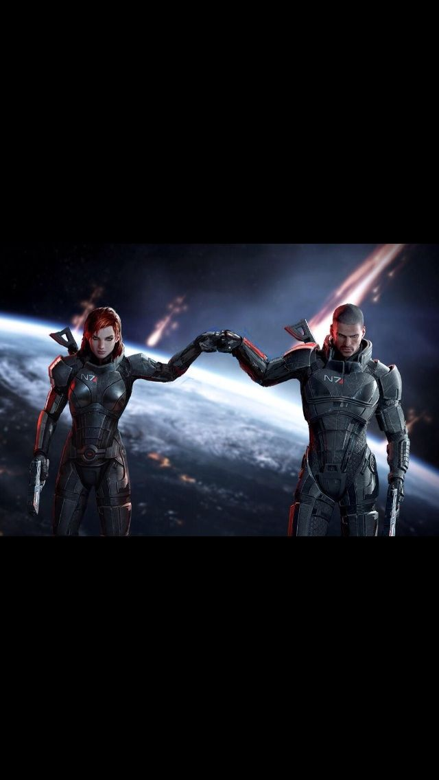 #MassEffect Fan Pic Now I can't stop thinking that they're sibings