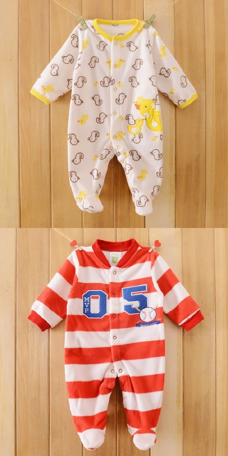 8a27d174b4fa Brand Spring Autumn Animal Baby Clothes Baby Romper Polar Fleece ...