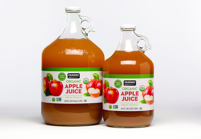 Private Label Organic Apple Juice Design For Fairway Market Nyc Juice Packaging Organic Apple Juice Organic Juice