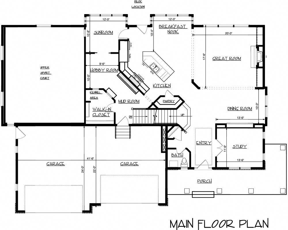 Exclusive House Plan With Modest Footprint And An Indoor Sports Court 73397hs Architectural Designs Exclusive House Plan Indoor Sports Court Sport Court