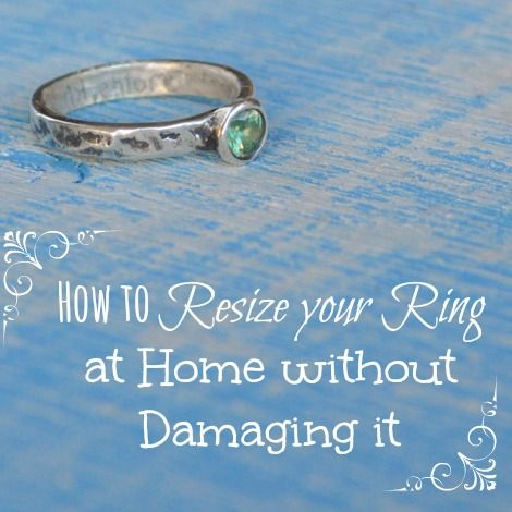 How To Resize Your Ring Make It Smaller At Home Easy And Reversible