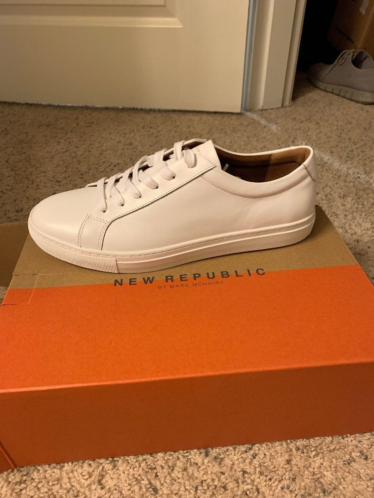 39e45c24448a4 Kurt Leather Sneaker by New Republic - Men's White Size 11.5 New In ...