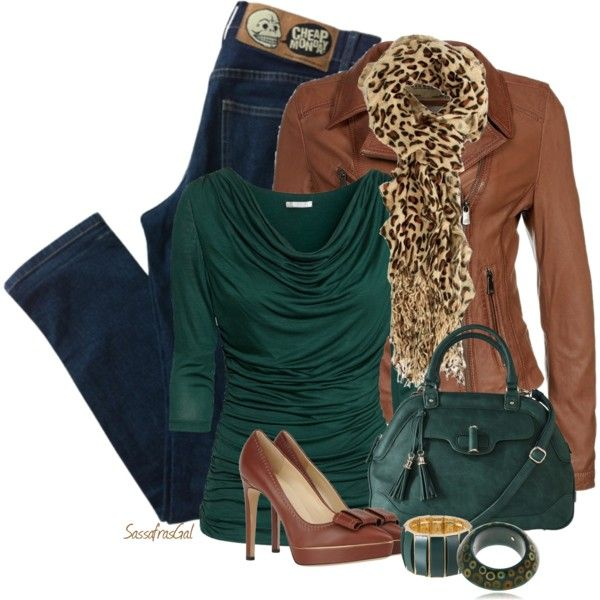 Pumps and Jeans, created by sassafrasgal on Polyvore