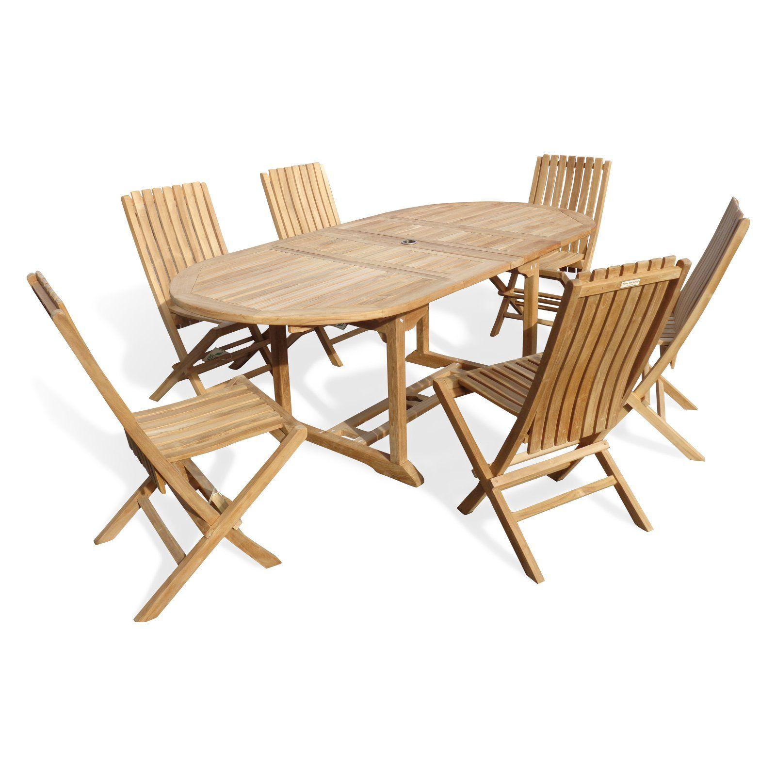 Outdoor Windsor Teak Furniture Buckingham Teak Double Leaf 7 Piece