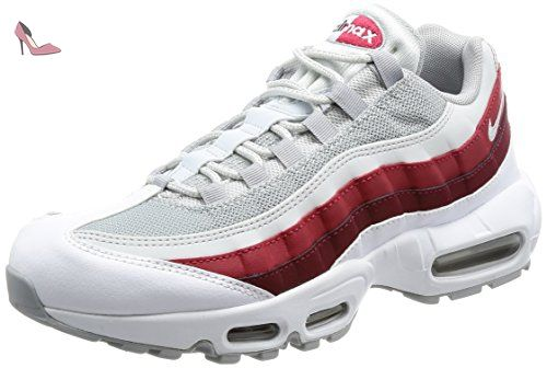 best sneakers d9379 4415b Nike Air Max 95 Essential, Chaussures de Running Homme, Multicolore  (White Wolf