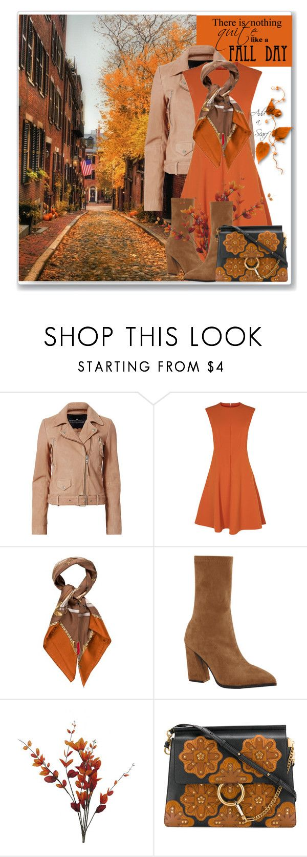 """""""A Scarf for Fall"""" by sjk921 ❤ liked on Polyvore featuring Designers Remix, Gucci and Chloé"""