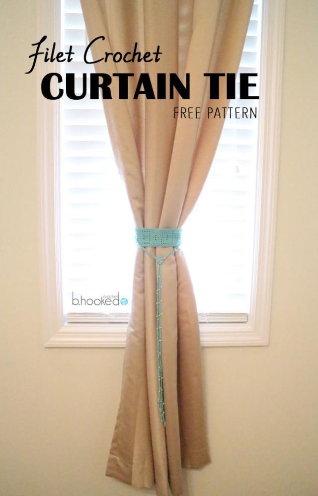 19 Free Patterns for Crochet Curtain Tie-Backs | Maggie\'s Crochet ...