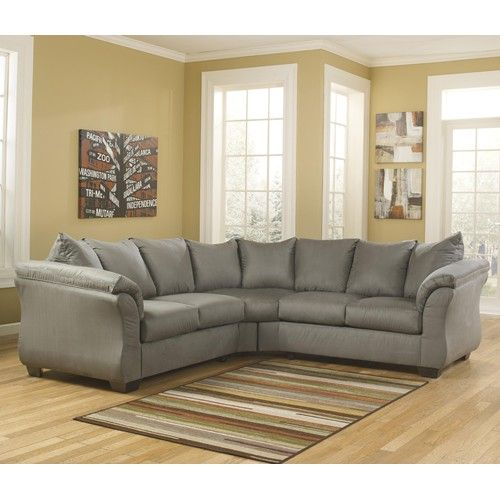 Ashley Furniture 2 Piece Sectional signature designashley furniture darcy 7500555/56 grey 2 piece