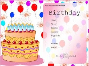 birthday invitation template a to z templates pinterest