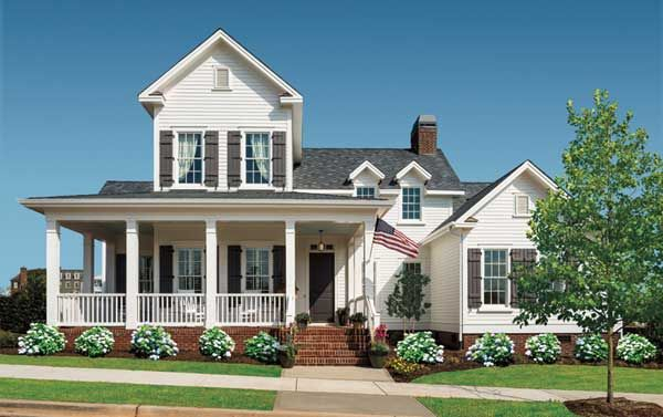 Fabulous The All American Cottage Pinterest White Farmhouse Country Largest Home Design Picture Inspirations Pitcheantrous