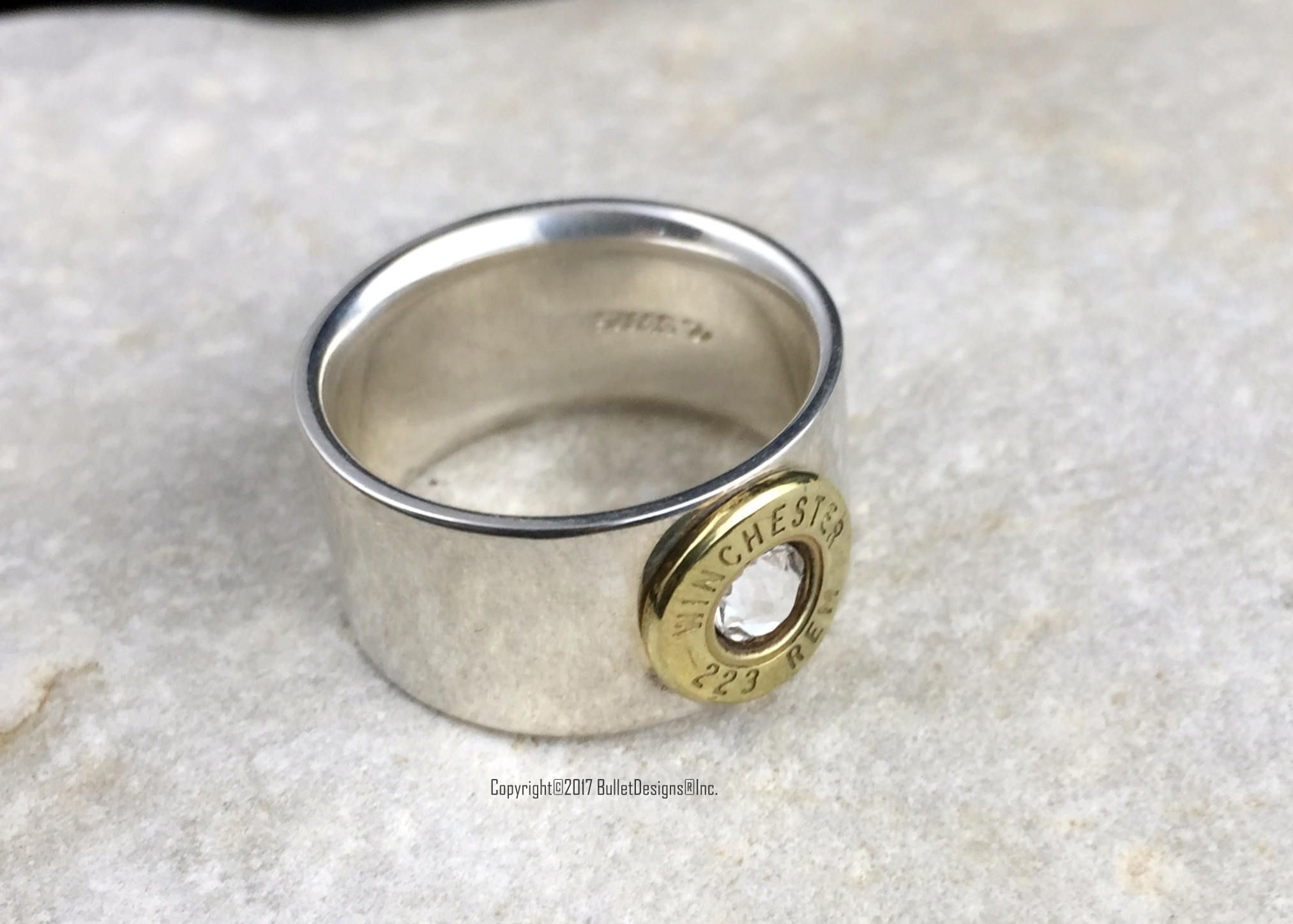 Bullet Ring 925 Sterling Silver Wedding Band Custom