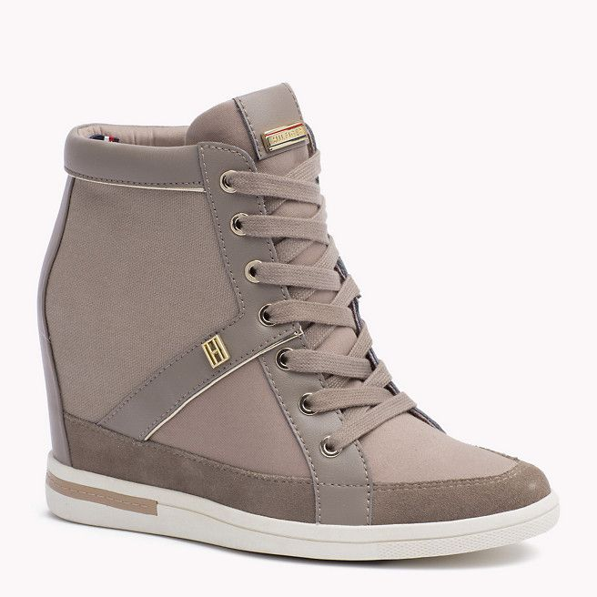 super popular 7d61e f2205 Tommy Hilfiger Mixed Canvas Wedge Sneaker - fungi (Brown) - Tommy Hilfiger  Sneakers - main image
