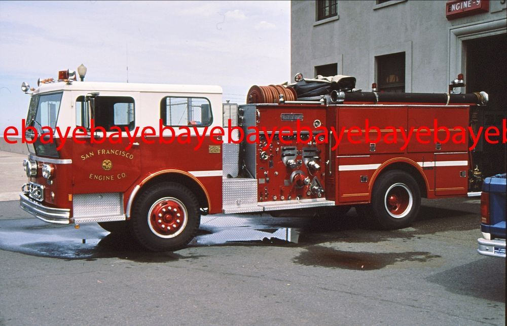 Fire apparatus slide engine 9 san francisco firefighting civil collectible firefighting rescue photos ebay fire apparatusfire publicscrutiny Choice Image