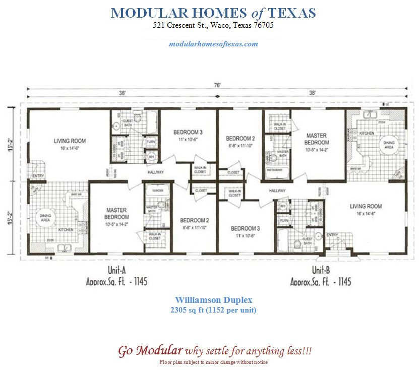Duplex mobile home floor plans modular duplex plans for Duplex modular homes
