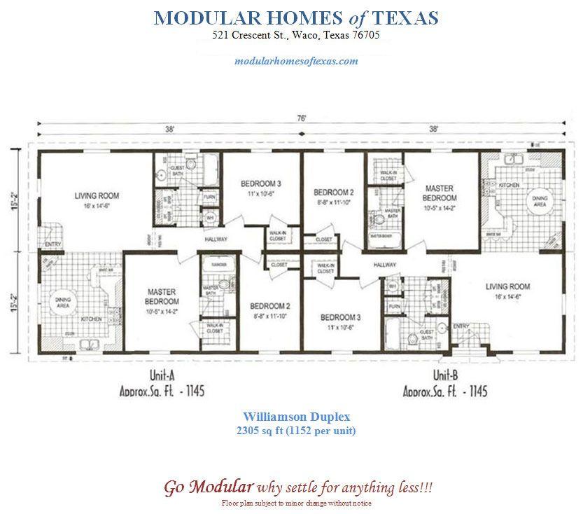 Duplex Mobile Home Floor Plans Modular Duplex Plans Dream