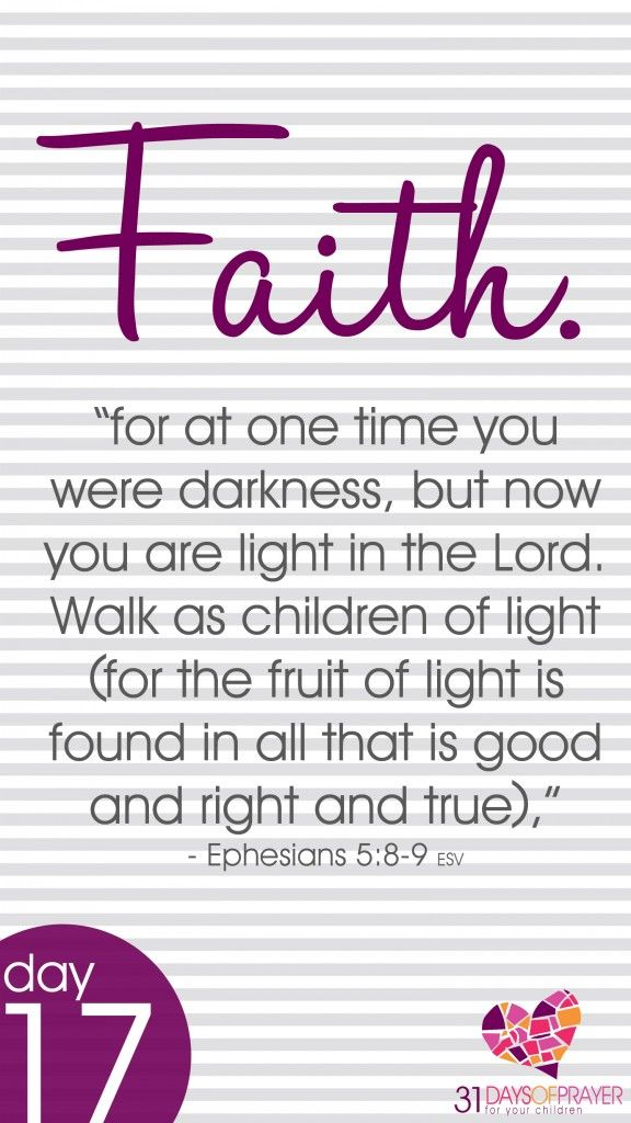 31 Days of Prayer for Your Children} Day 17 :: FAITH (With images ...