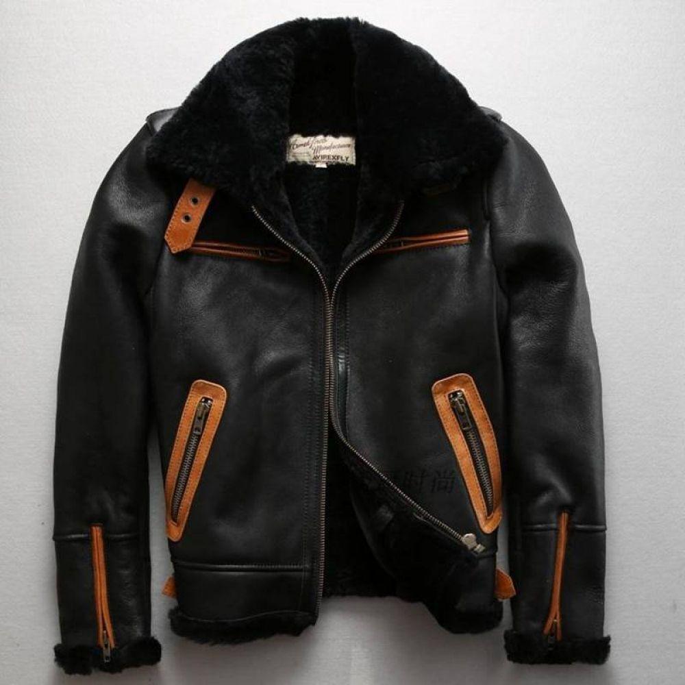 Axirex Fly B3 Flight Jacket Real Fur Coat Men Sheepskin Coat Winter Genuine Leather Jacket Men Black Leather Bomber Jacket Men Leather Jacket Men Leather Bomber Jacket Men Black Leather Bomber Jacket [ 1000 x 1000 Pixel ]