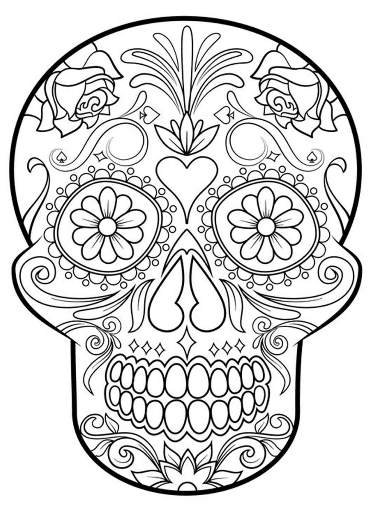 20 Padrísimos Mandalas De Día De Muertos Para Imprimir Y