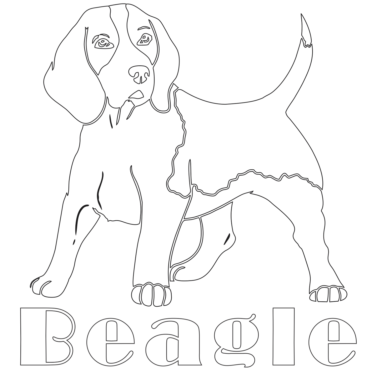 Beagle Dog Coloring Pages Pics