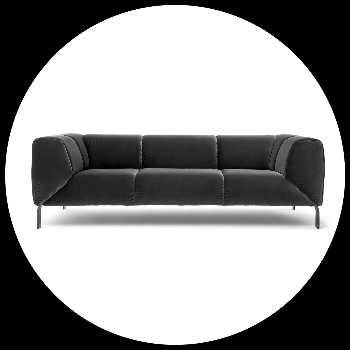 Black is the new black. The Rolf Benz 323 sofa.