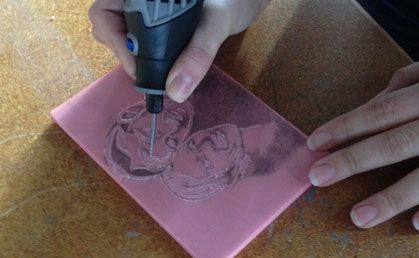 Diy a custom carved rubber stamp using your dremel tool art