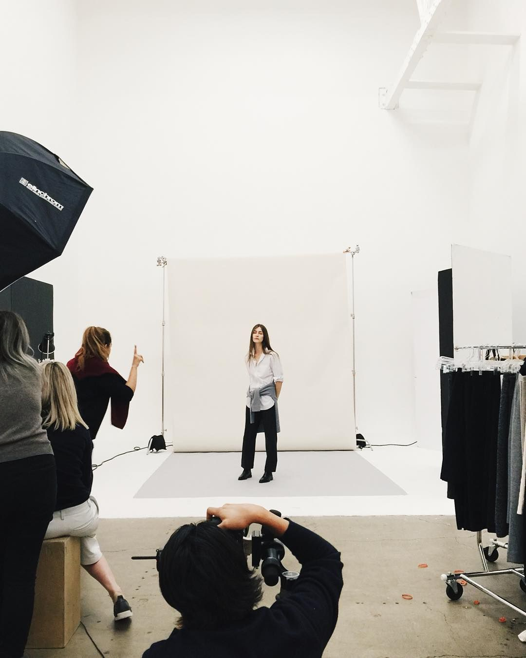 On set shooting our new boots coming out later this month. Get an exclusive detailed look on Snapchat. by everlane