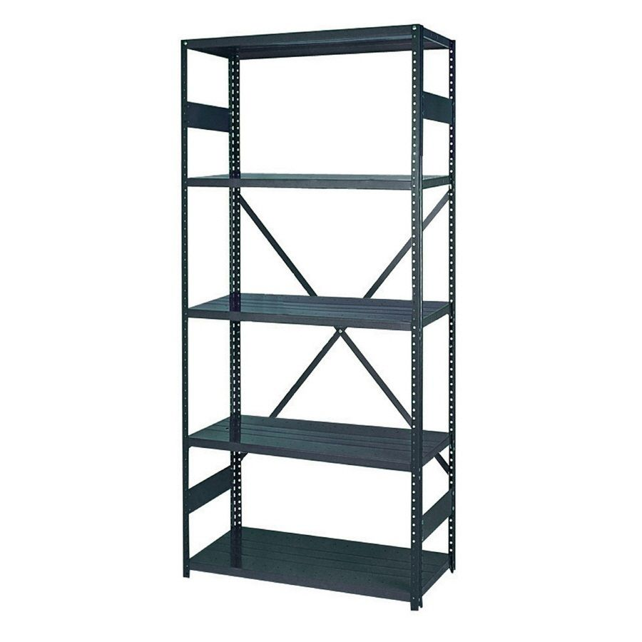 Edsal 24 In D X 36 In W X 75 In H 5 Tier Steel Freestanding