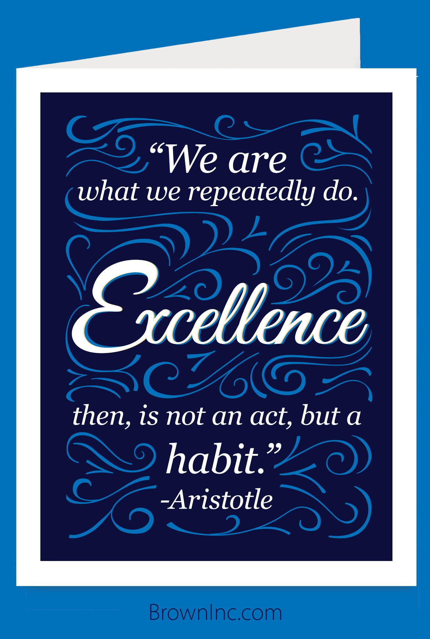 Excellence Card Aristotle Quotes Cards Inspirational Quotes