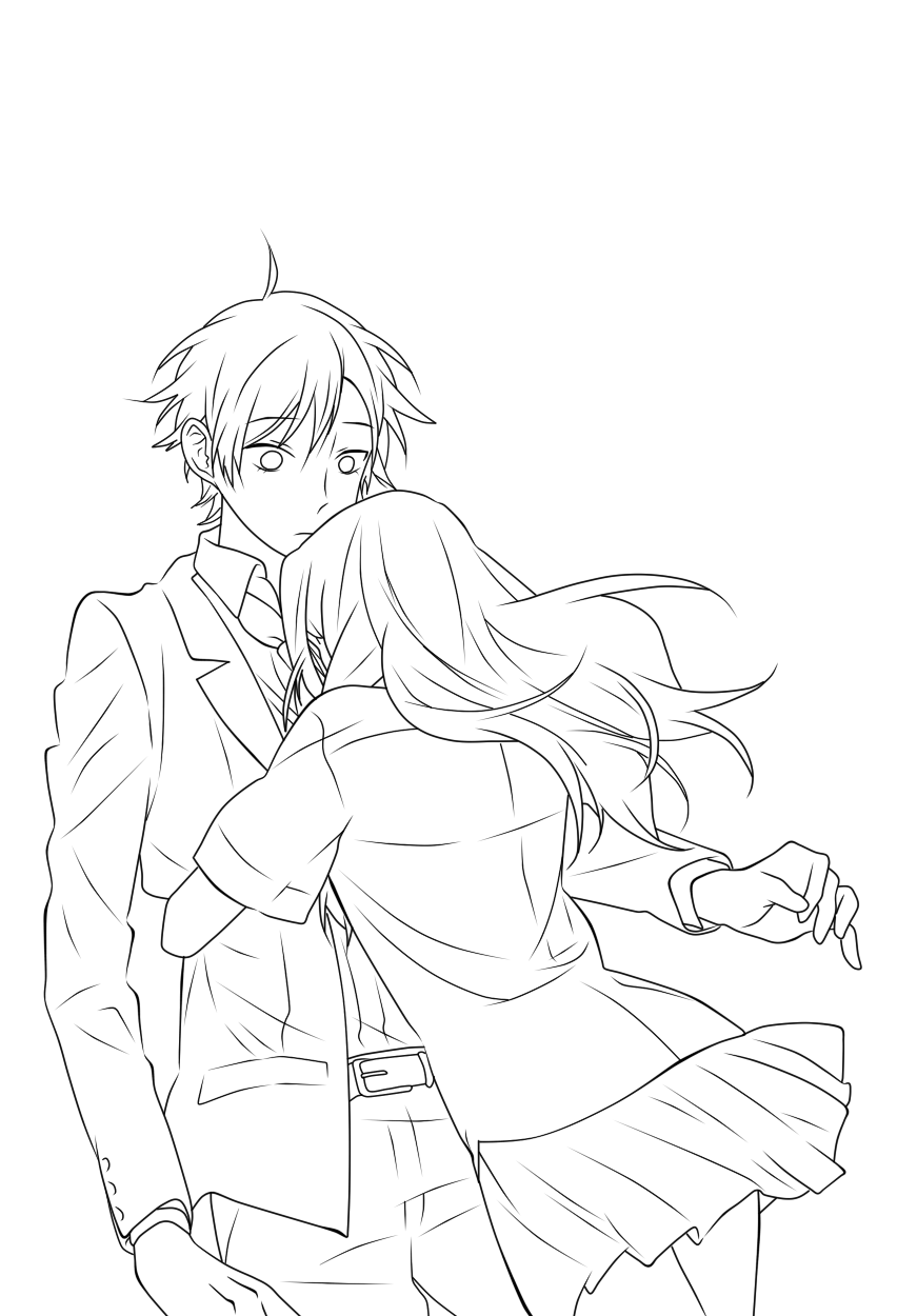 Horimiya Line Art Art Drawings To Trace Horimiya [ 1250 x 871 Pixel ]
