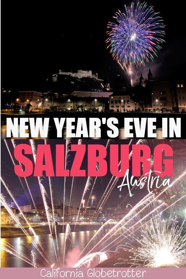 New Year's Eve Fireworks in Salzburg, Austria! New years