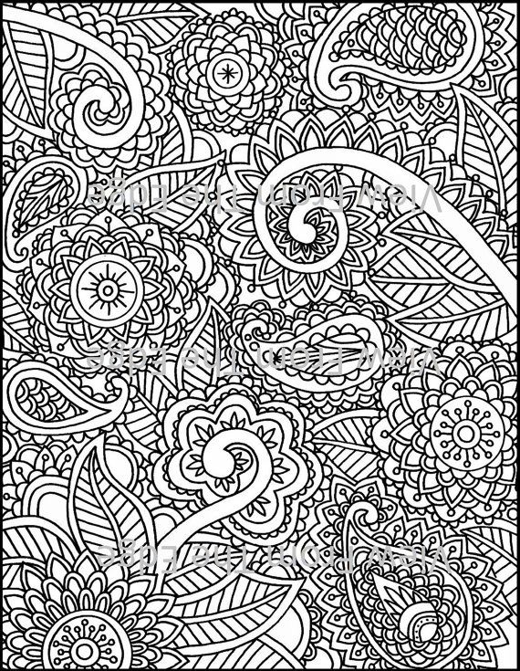 Printable Henna Coloring Pages